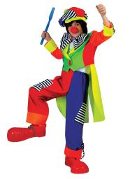 Morriscostumes Ff60639 Spanky Stripes Clown Ch  Large FF60639