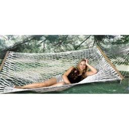 Bliss Hammocks BH-411 2 Person Classic Poly Rope Hammock - Natural Rope