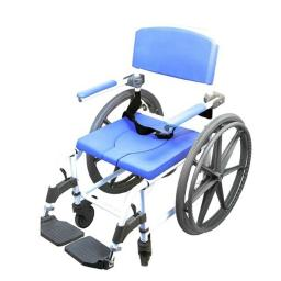 Healthline 791154430026 Aluminum Shower Commode Chair, 18 in. Seat with 24 in. Wheels