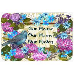 Carolines Treasures PJC1102LCB Our House Our Home Our Haven Glass Cutting Board, Large PJC1102LCB