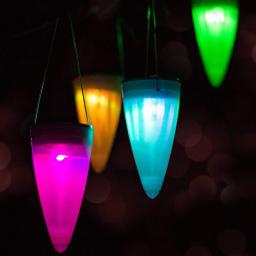 GIGALUMI 6 Count Color-Changing Solar Powered Water Resistant, Garden LED Light