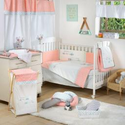 Dream Big Little One Pink Crib Bedding Accessory - Bumper