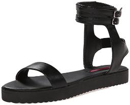 C Label Women's Gilda 4 Platform Sandal,Black,6 M US