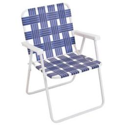 Rio Brands BY055-0138 Blue Woven Web Folding Chair