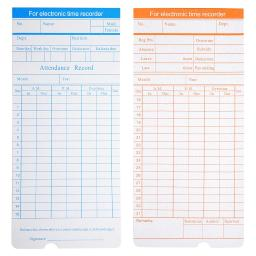 Yescom 200 Count Monthly Time Clock Cards Timecard for Employee Attendance Payroll Recorder