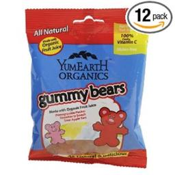 Yummy Earth 1023142 Gummy Bears Og2 - Case of 12 - 2.5 oz