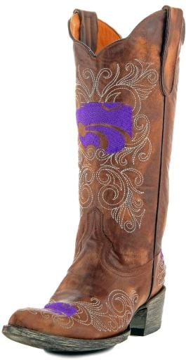 Gameday Boots Womens College Kansas State Wildcat Brass KST-L042-1 3EC352B96567981A