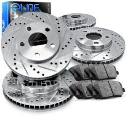 [COMPLETE KIT] eLine Drilled Slotted Brake Rotors & Ceramic Pads CEC.6606302
