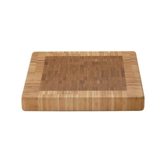MIU France 90065 End Grain Bamboo Cutting Board: 11 Inch Square X 1.5 Inch