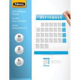 Fellowes 5221502 9 x 12 self-adhesive laminating sheets, 50 pk
