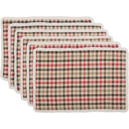 Seasons Crest 42298 12 x 18 in. Hollis Placemat, Set of 6