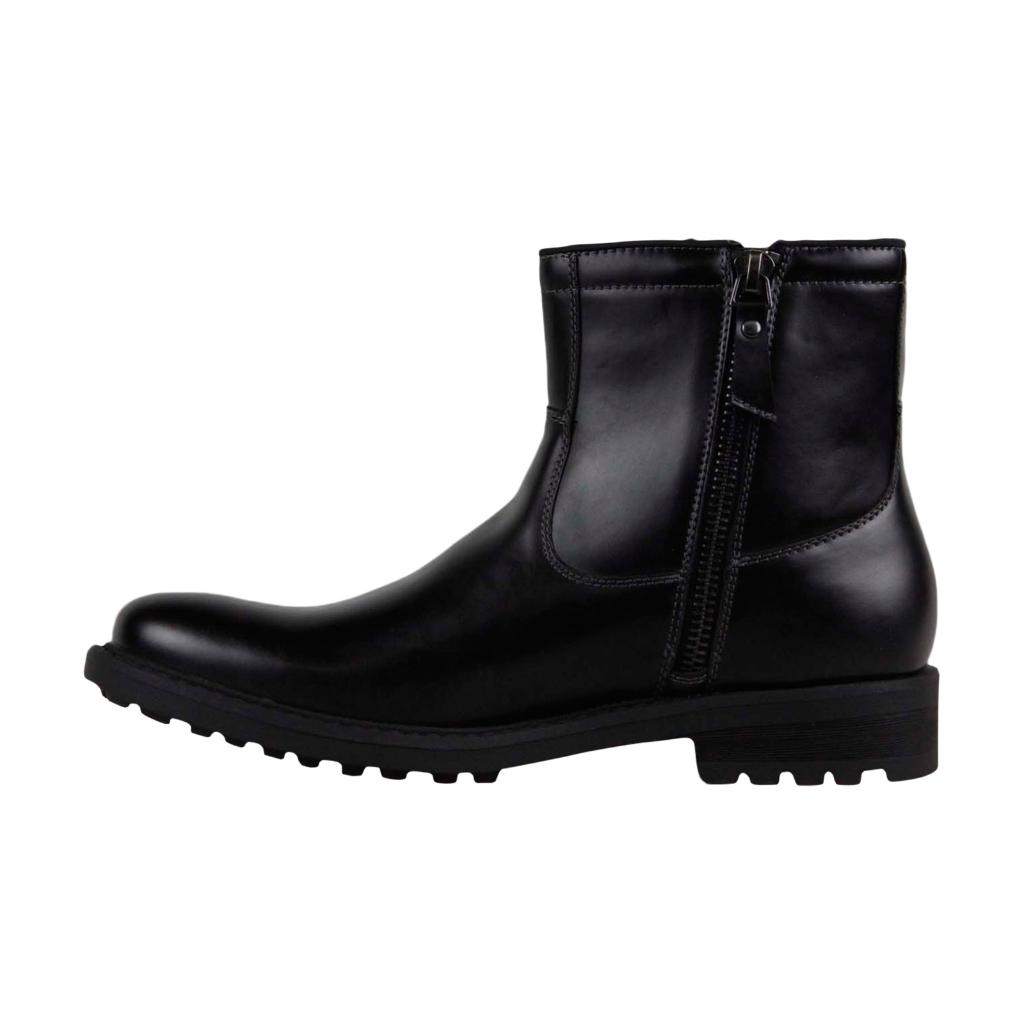 59fe2870ade Unlisted by Kenneth Cole Kenneth Cole Unlisted C Roam Mens Black Casual  Dress Zipper Boots Shoes