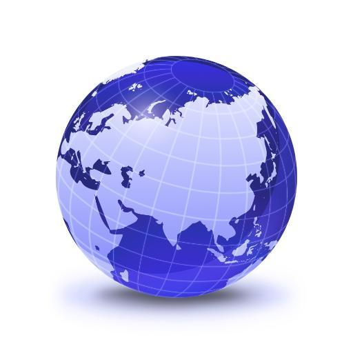 Stylized Earth globe with grid, showing Asia and Europe Poster Print