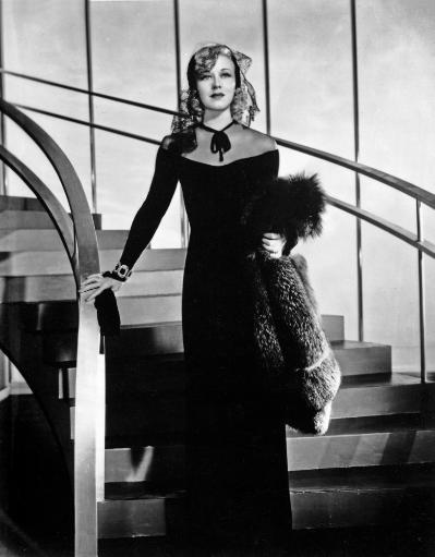 Ginger Rogers descending a staircase wearing an evening dress Photo Print RWC1HJCECMHKXNBC