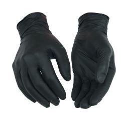 Kinco Nitrile Disposable Gloves Large Black Powder Free 40 pk - Case Of: 1; Each Pack Qty: 40; Total Items Qty: 40