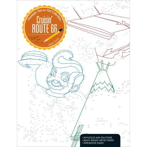 Kalmbach Publishing Books-Cruisin' Route 66 Dot-To-Dot RDKRZ8CHXN9YTC2F