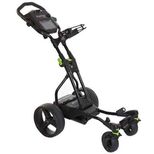 Bag Boy BB71011 Coaster Quad Electric Push Cart, Black & Lime
