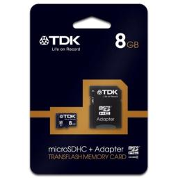 Tdk 78537 8GB Class 4 Micro SDHC With Adapter Memory Card