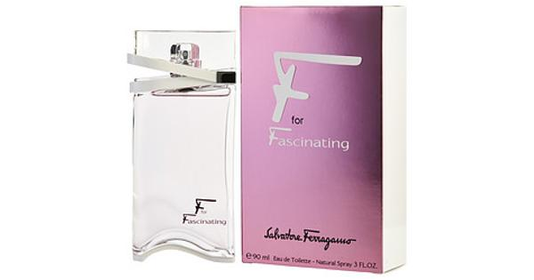 Salvatore Ferragamo F For Fascinating By Salvatore Ferragamo For Women. Eau De Toilette Spray 3-Ounces Launched by the design house of Salvatore Ferragamo. This feminine fragrance has a blend of mandarin, jasmine, and patchouli notes. It is recommended for casual wear.