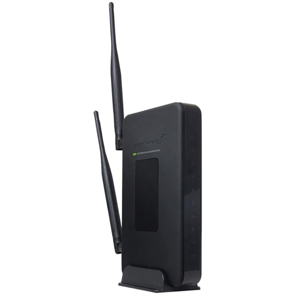 Amped wireless(r) sr20000g high-power wireless n-600mw dual-band wi-fi(r) range extender