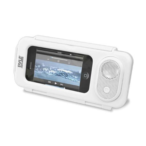 PyleHome PWPS63WT Surf Sound Play Universal Waterproof iPod, iPhone4 & iPhone5 MP3 Player & Smartphone Portable Speaker & Case - Color White