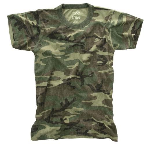 Kids Woodland Camo T-shirt, Washed Vintage Look Tee
