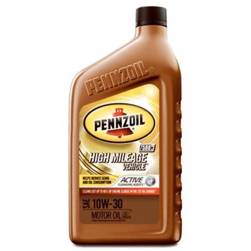 Pennzoil 550022829 10W40 High Mileage Vehicle Motor Oil, Pack of 6