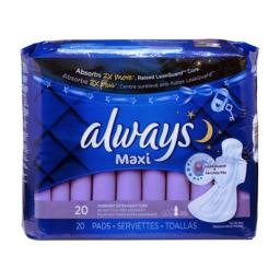Procter & Gamble PGC17902 Always Maxi Pads Overnight Extra Heavy Flow - 20 Count