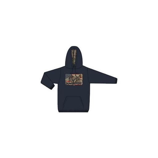 Realtree merchandise brf45818 realtree fleece hoody americana assortment navy seal m-2xl 1282455
