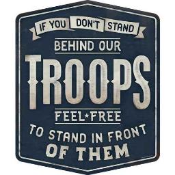 Open road brands 90169028s open road brands emb tin sign stand behind our troops