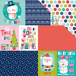 Bella Blvd Holly Jolly Christmas Collection 12 X 12 Double Sided Paper Daily Details