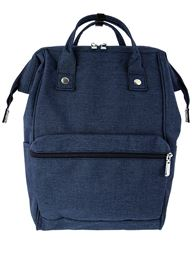 5th Elm Double Zipper Backpack for Back to School - Navy