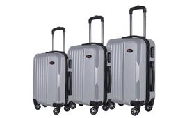 Brio Luggage Hardside Spinner Luggage Set #1701 - Silver