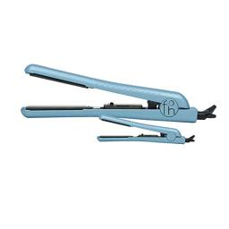 Fahrenheit Heat Wave Collection 1.25 Inch & 0.5 Inch Travel Size Double Trouble Ceramic Flat Iron Set (Sky Blue)