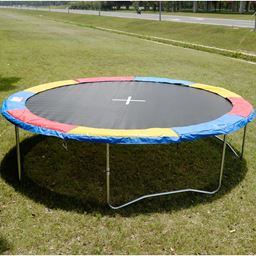 Colorful Safety Round Spring Pad Replacement Cover for 15' Trampoline