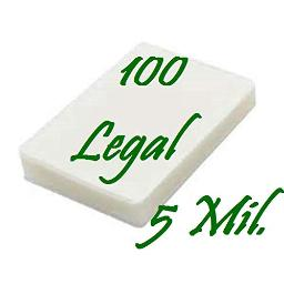 Legal Size, Qty 100 Pack, 5 Mil. Hot Thermal Laminating Laminator Pouches Sheets 9 x 14-1/2 & Free Carrier Sleeve. Ultra Clear. See Photos for Product Quality & Clarity