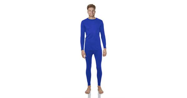 Rocky Thermal Underwear for Men Lightweight Cotton Knit Thermals Men's Base Layer Long John Set LIGHTWEIGHT - (cotton) - 55% Cotton and 45% Ultra-Soft Polyester - MIDWEIGHT - (fleece) - 92% Ultra-Soft Polyester and 8% Spandex - HEAVYWEIGHT - (fleece) 90% Ultra-Soft Polyester and 10% Spandex.*WONDERFULLY WARM: Rocky's thermal underwear for men is a  2 PIECE SET  and is perfect for use underneath formal or casual attire at work or for a day out, or the thermal underwear can be worn as comfy pajamas on cold, chilly nights.*PREMIUM GRADE FABRICS: Rocky thermal underwear for men is designed for comfort with an elastic waistband and fleece lined moisture wicking microfibers, these thermal long johns have the perfect blend of comfort, warmth, elasticity, and moisture protection.*MOISTURE WICKING: Rocky thermal underwear for men set is designed to keep you dry, this long-sleeved shirt and long pants are made to be wick away sweat and other moisture, this thermal underwear for men set will do its job no matter how active you are.*BASE LAYERS: When going out to jog, run, bike or cycle in the cold, make sure to use the rocky thermal underwear for men set under your clothing to keep warm and cozy in freezing cold climates or bad weather. These thermal underwear are stretchy & comfortable.