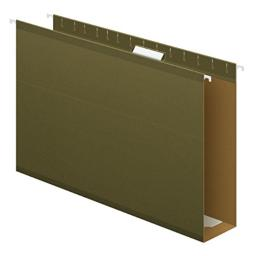 "Pendaflex Extra Capacity Reinforced Hanging File Folders, 3"", Legal Size, Standard Green, 1/5 Cut, 25 per Box (04153x3)"