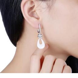 Sterling Silver Italian Ceramic Earring