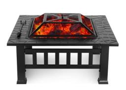 Upland Fire Pit with Cover (Black)