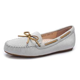 Camel Women's Bow Detailing Anti-Slipping Driving Style Moccasin Slip on Loafers Color Grey Size 8