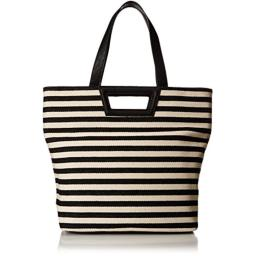 BCBGeneration Travel Tote, Black Natural Combo, One Size
