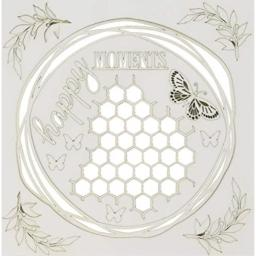 """49 and Market Happy Moments White Archival Chipboard 6""""x6"""""""