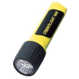 Streamlight 68244 4AA ProPolymer Lux Div 2 Flashlight with White LED, Yellow - 100 Lumens
