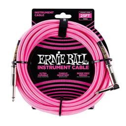 Ernie Ball Instrument Cable, Neon Pink, 25 ft