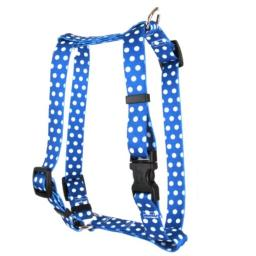 Yellow Dog Design Pet Harness, Large, Navy Polka