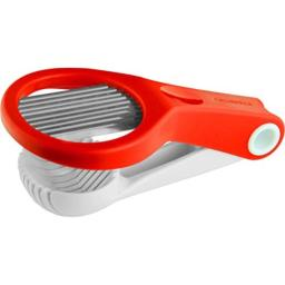 Casabella Hand Held Strawberry Slicer, Red and White