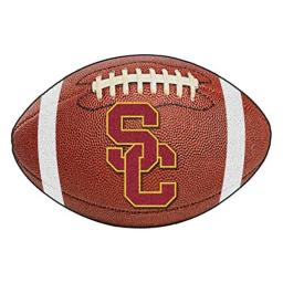 FANMATS NCAA Univ of Southern California Trojans Nylon Face Football Rug