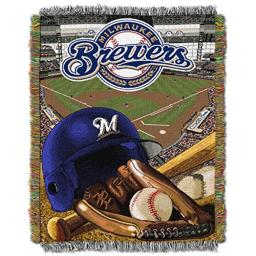 "The Northwest Company MLB Milwaukee Brewers Home Field Advantage Woven Tapestry Throw, 48"" x 60"