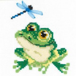 """Little Frog Counted Cross Stitch Kit 6""""X6"""" 10 Count"""